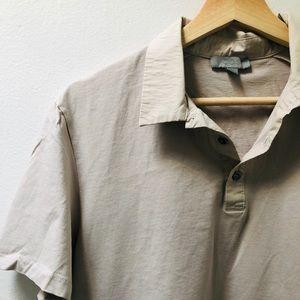 Short Sleeve Cream Shirt